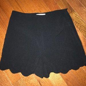 Black high wasted shorts